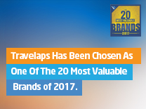 Travelaps Has Been Chosen As One Of The 20 Most Valuable Brands of 2017